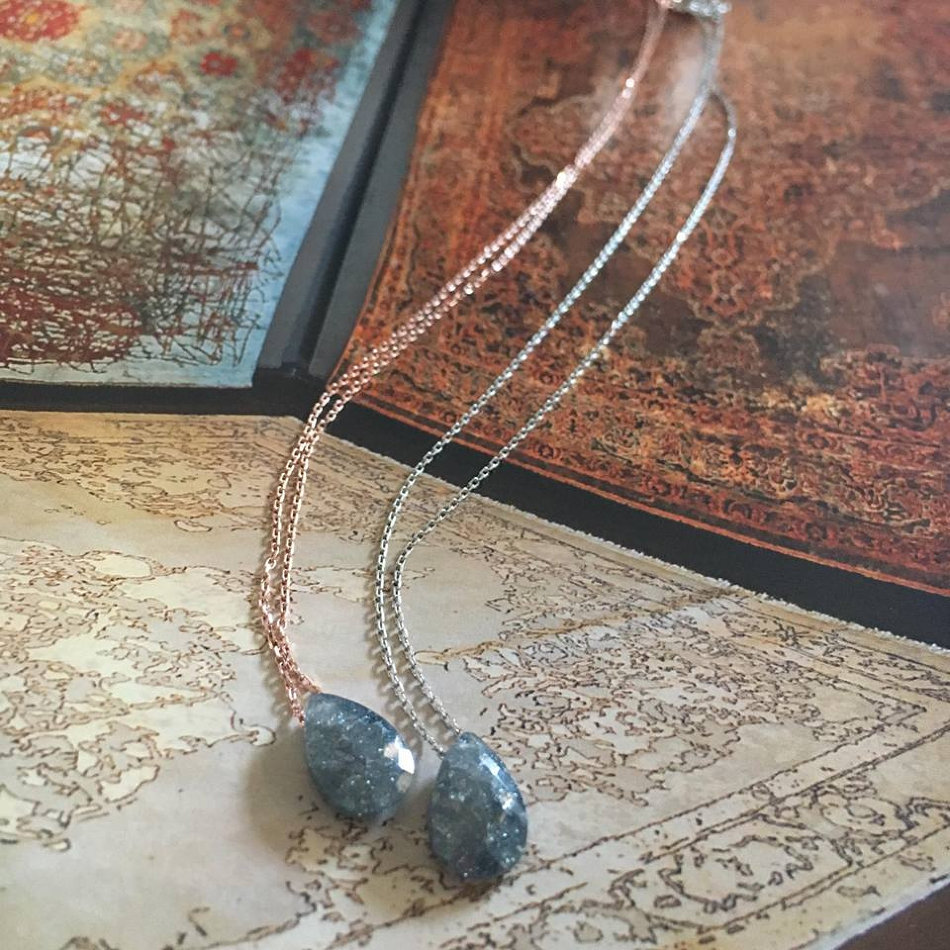 Charming silver necklace