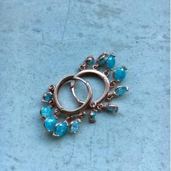 The Blue's mini silver earrings