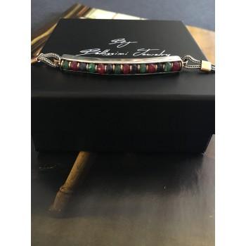 """The Oriental splendor"" silver bracelet"