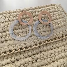 The Avva stud silver earrings
