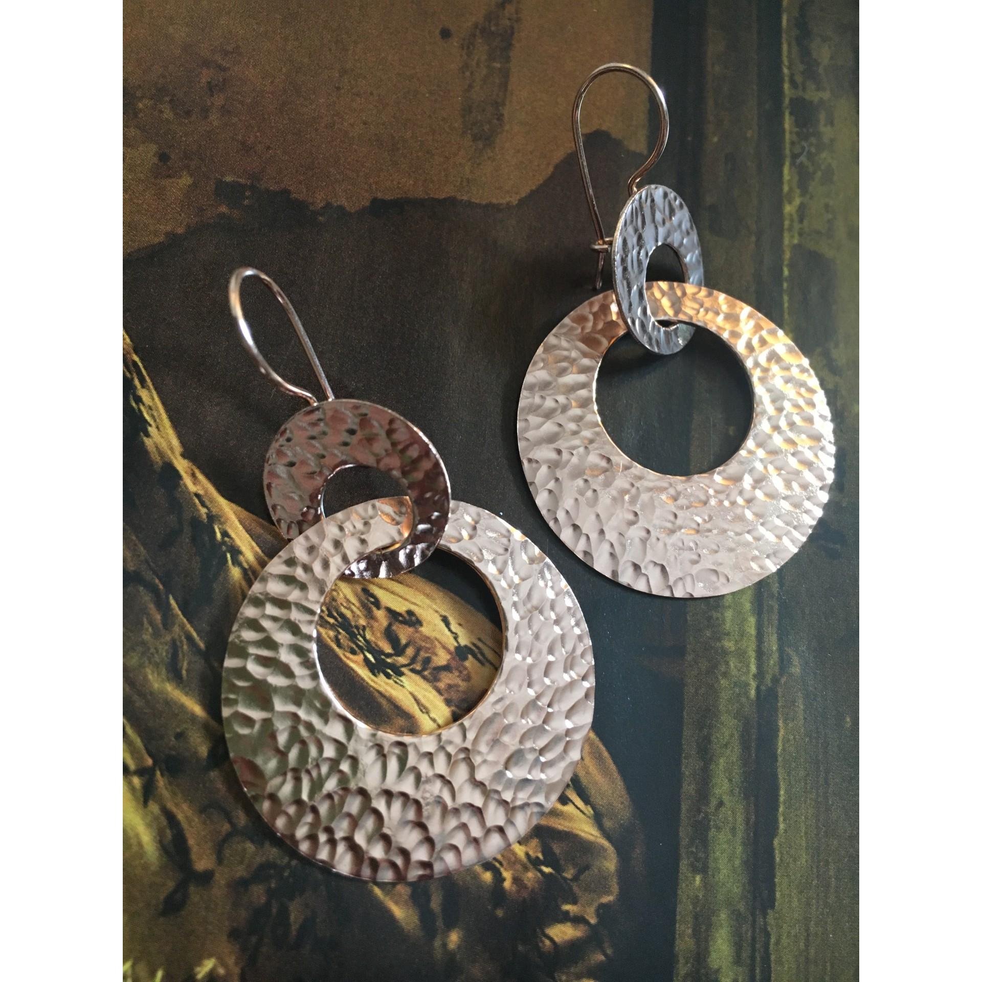 """""""The Avva in rose"""" silver earrings"""