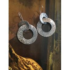 """""""The Avva in white"""" silver earrings"""