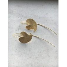 The Golden Leaf silver earrings