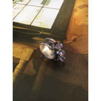 """""""The Amethyst and angel"""" silver ring"""