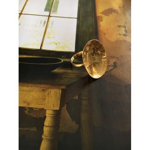 """The Golden saten"" silver ring"