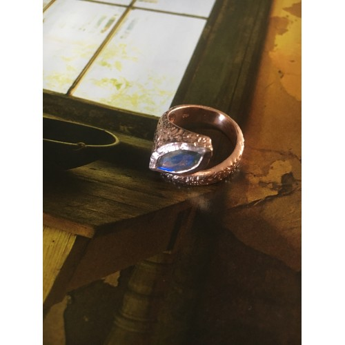 """""""The Sapphire"""" silver ring"""
