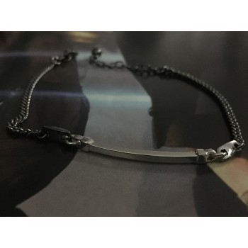 The Black and Silver silver bracelet for men