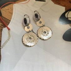 The Charm mini I silver earrings