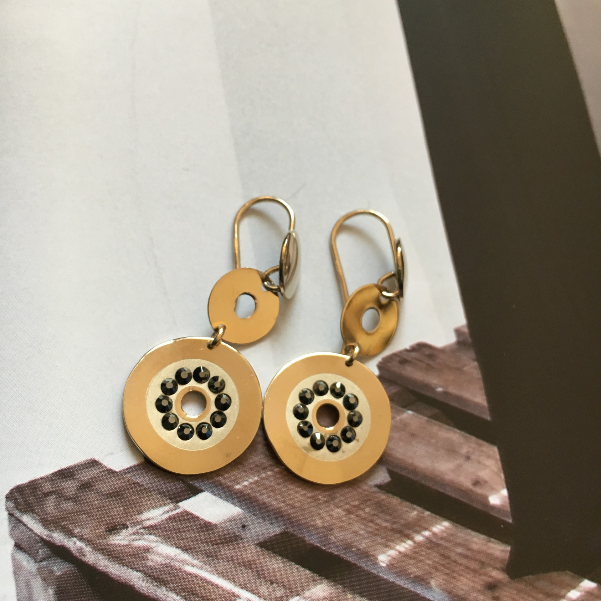 The Charm mini III silver earrings