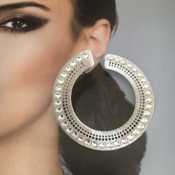 The Italy hoop silver earrings