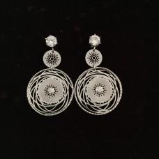 """""""Keep dreaming II"""" silver earrings"""