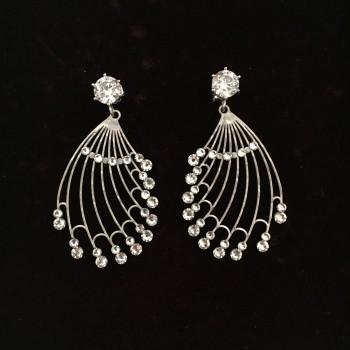 """""""Keep dreaming III""""  silver earrings"""