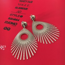 The Nymph in Gold stud silver earrings