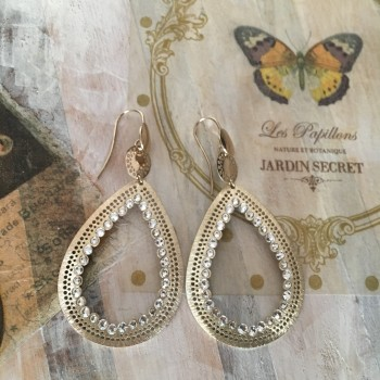The Roxane in Gold silver earrings