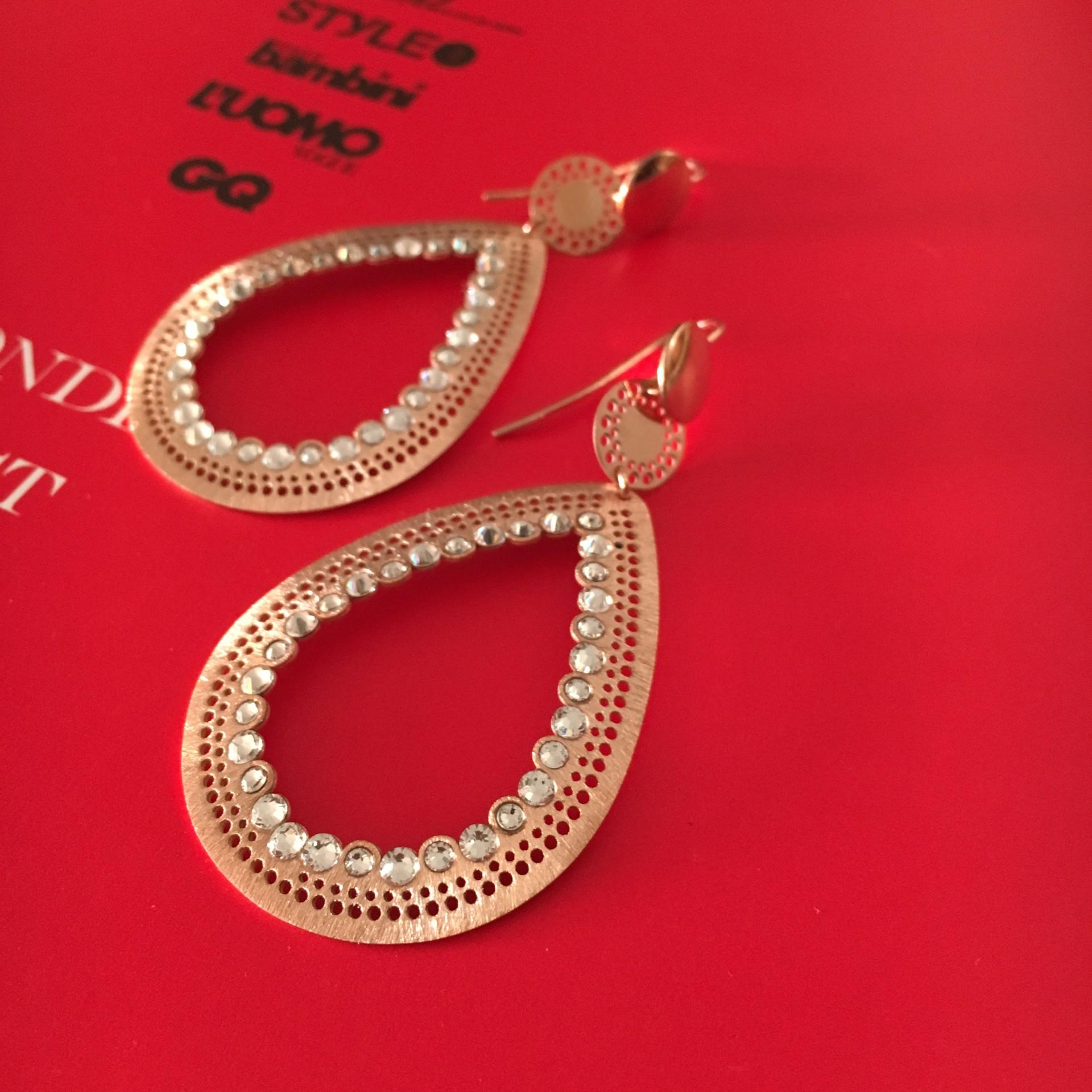 The Roxane in Rose silver earrings