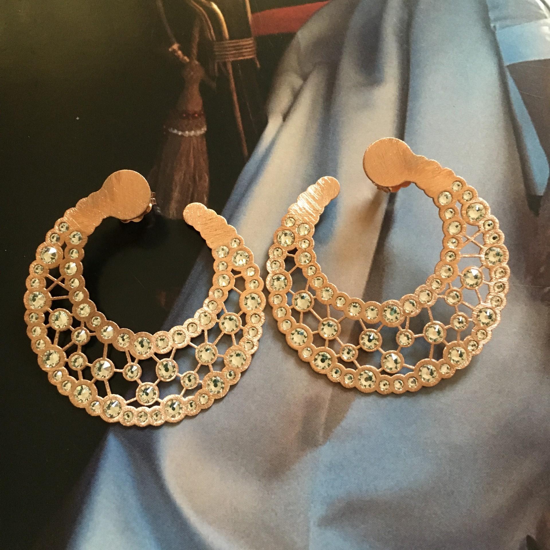 The Stardust in Rose silver earrings