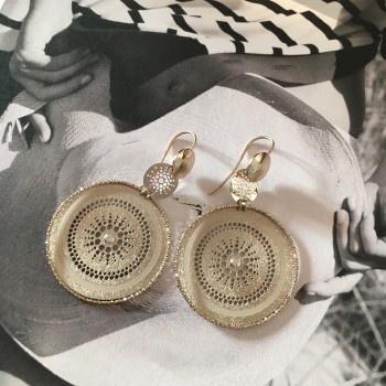 The Vintage in Gold silver earrings