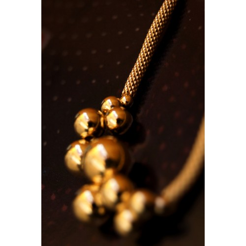 The Balls in Gold silver bracelet