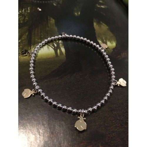 The Ladybugs in Gold silver bracelet