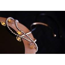 The Lucky Eye in Gold silver bracelet