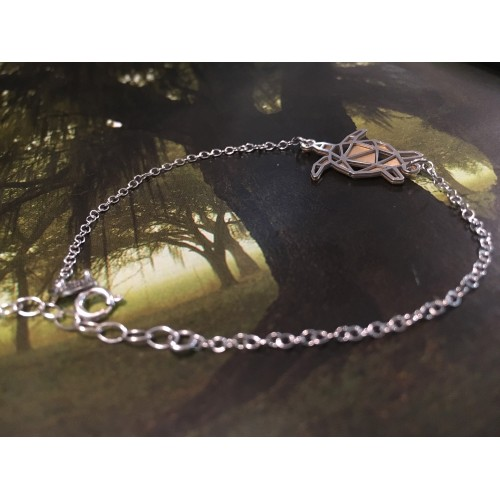 The Turtle Origami silver bracelet