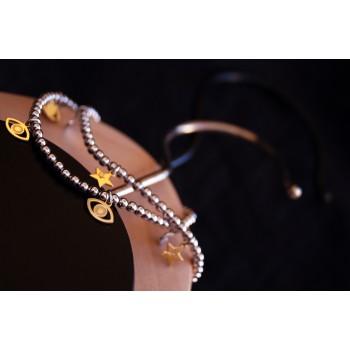 The Stars in Gold silver bracelet
