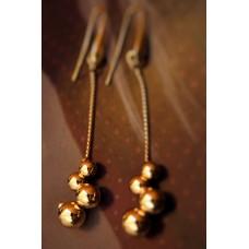 The Balls in Gold silver earrings