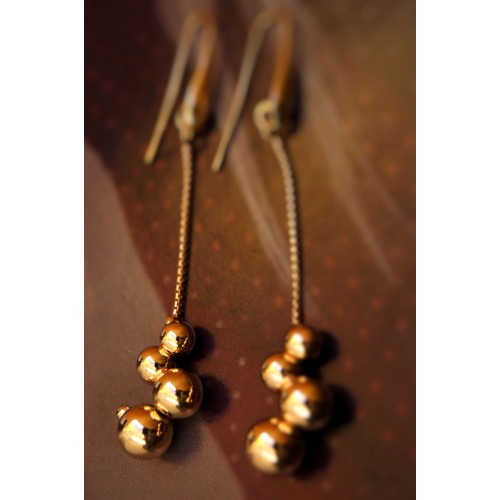 The Balls in Gold silver earrings