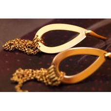The Drops and Chains in Gold silver earrings