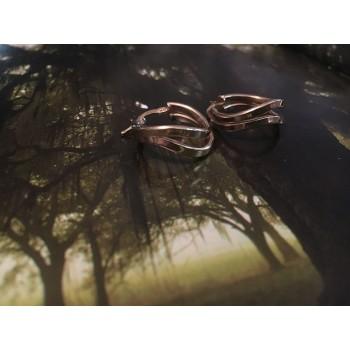 The Geometric in Gold mini silver earrings