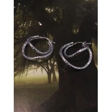The Geometric mini silver earrings