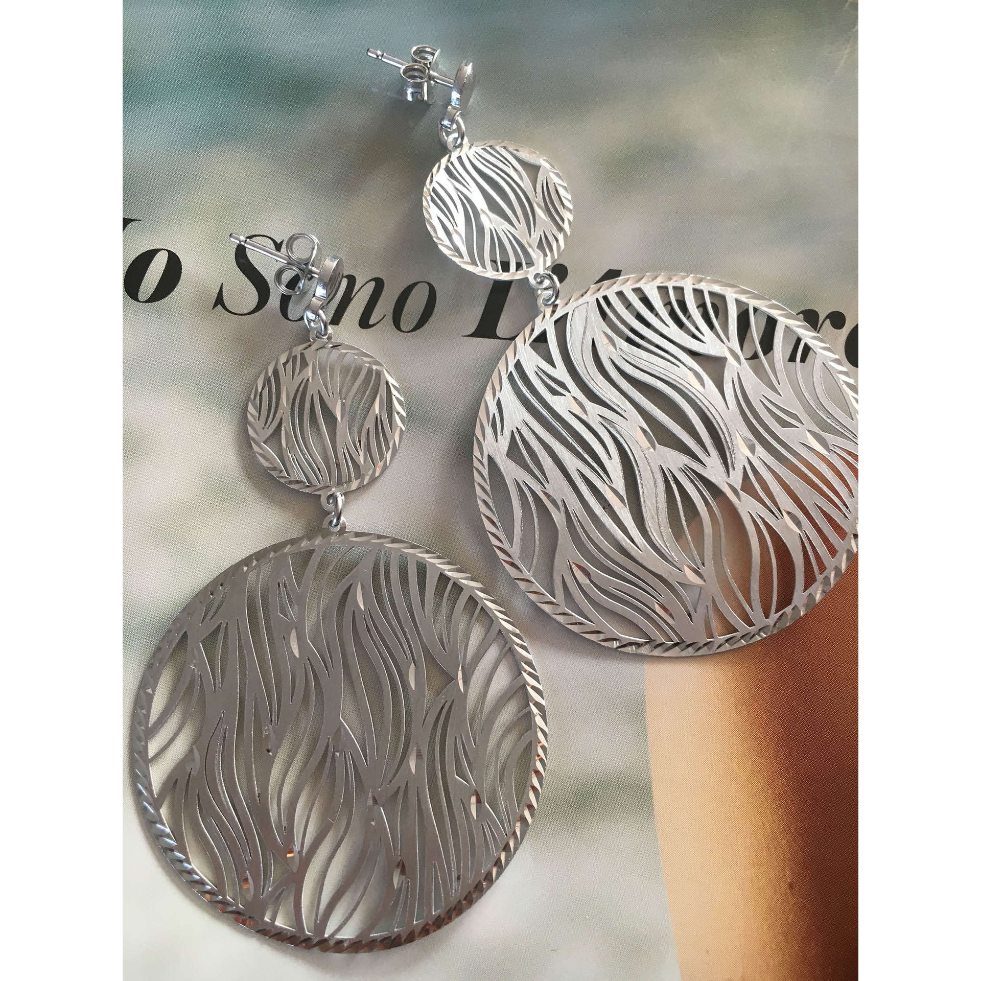 The Silver Zebra silver earrings