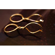 The Twisted in Gold silver earrings