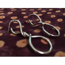 The Twisted in White silver earrings
