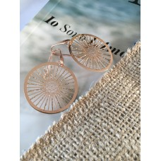 The Wheels in Rose Gold silver earrings