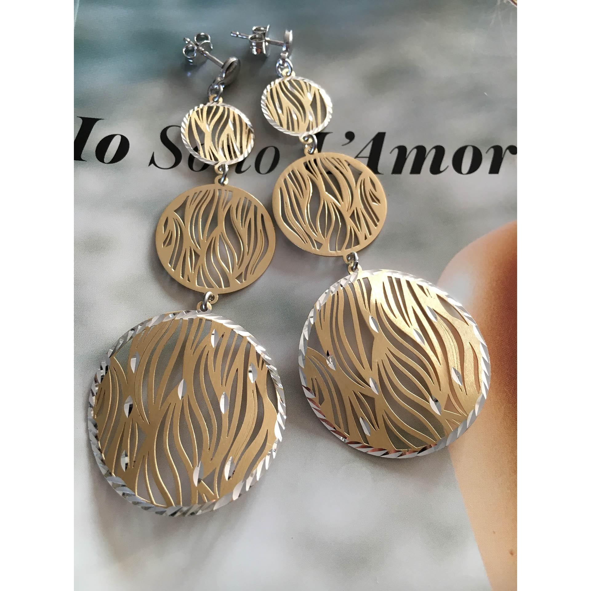 The Zebra in Gold silver earrings
