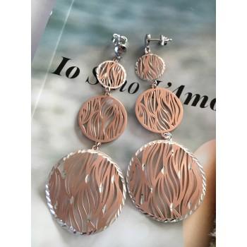 The Zebra in Rose Gold silver earrings