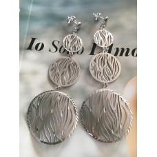 The Zebra in White silver earrings
