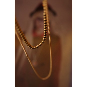 The Bound in Gold silver necklace