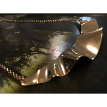 The Golden Fusion silver necklace