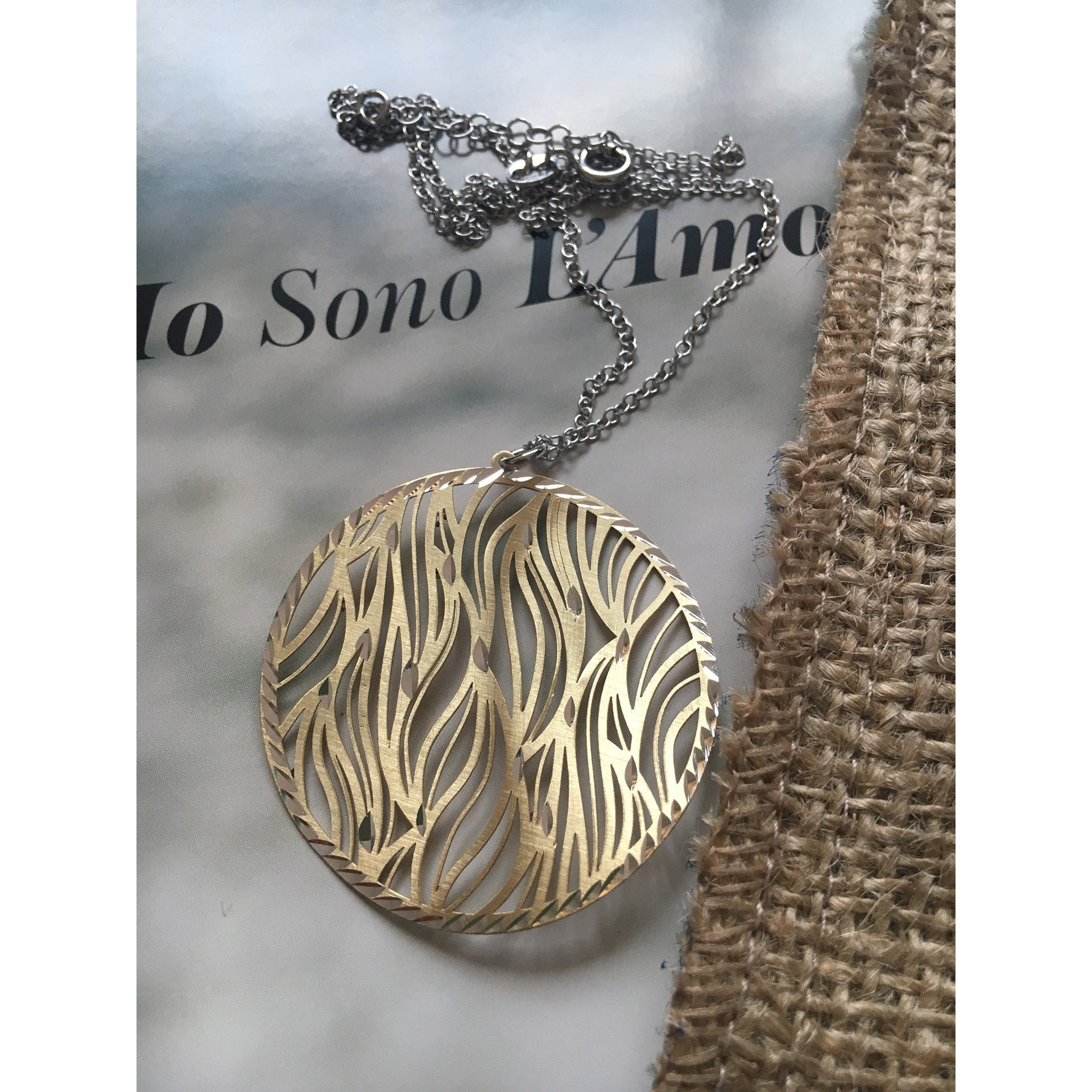 The Zebra in Gold silver necklace