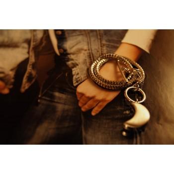 The Moon in Silver silver bracelet