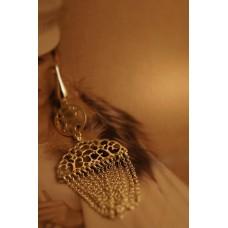 The Vintage tenderness silver earrings