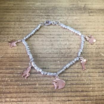 Di Mare Charms silver bracelet