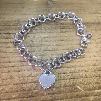 The Heart silver bracelet