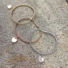 The Heart silver bracelet in White