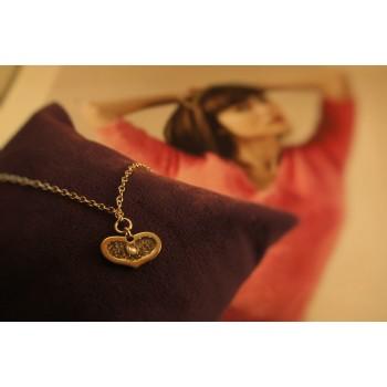 The Golden Heart silver bracelet