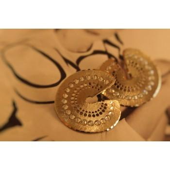 The Discs in Gold silver earrings