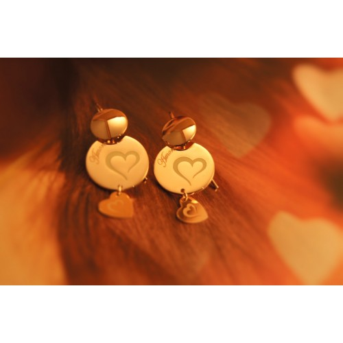 The Amore silver earrings