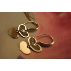 The Golden Hearts silver earrings